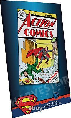 DC Comics Action Comics #7 Prime Silver Foil Cgc 10 Première Libération De La Monnaie Gemme