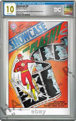 DC Comics Showcase #4 1ère Application De Flash 35g Silver Foil Cgc 10 Gem Mint