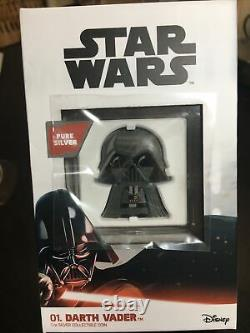 Darth Vader Chibi Coin #357 De 2000 Disney Star Wars 1oz Proof Silver 2020
