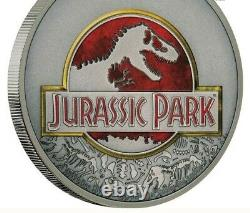 Jurassic Park 25e Anniversaire 2018 1 Oz Fine Silver Coin Niue Nz Mint