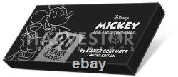 Mickey Mouse 90th Anniversary Silver & Gold Coin Note Pmg 70 Premières Versions