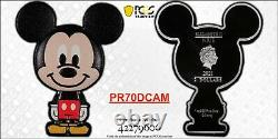 Mickey Mouse Chibi 1oz Silver Coin Pcgs Pr70dcam Pop 3 Limited In Hand