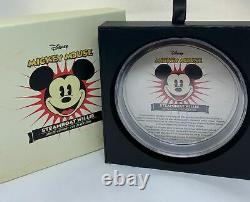 Mickey Mouse Disney Steamboat Willie 2015 1kilo Niue 100 $ Pièce D'argent Pf 70 Uc