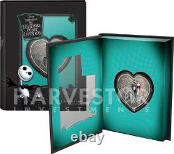 Nightmare Before Christmas Heart Shape Love Is Eternal 1 Oz. Argent Coin