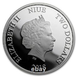 Niue -2018 1oz Silver Proof Coins- Disney Villains 4 Pièces