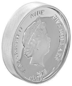 Niue -2018- 2 Oz Silver Proof Coin- Disney Mickey Mouse 90e Anniversaire