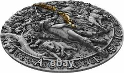 Niue 2019 It Goddesses Artemis High Relief $2 Argent Coin 2 Oz