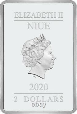 Niue 2020 1 Oz Pièce D'épreuve D'argent- Batman- Le Crusader Caped -kiss