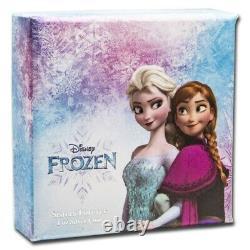 Niue 2020 1 Oz Silver Proof Coin- Disney Frozen Elsa Et Anna Frozen