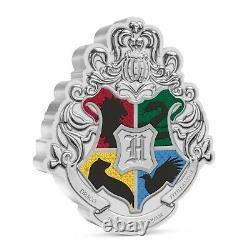 Niue 2021 1 Oz Argent Pièce De Preuve Harry Potter Hogwarts Crest