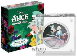 Niue 2021- 1 Oz Pièce De Preuve D'argent - Disney Alice Au Pays Des Merveilles La Haine Folle