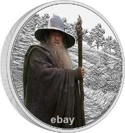 Niue 2021 1 Oz Pièce De Preuve D'argent- Seigneur Des Anneaux Gandalf Le Gris
