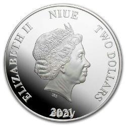 Niue 2021 1 Oz Pièce De Preuve D'argent- Seigneur Des Anneaux Sauron