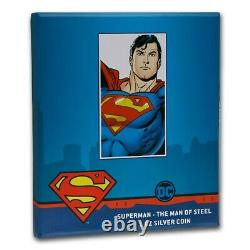 Niue 2021 1 Oz Pièce De Preuve D'argent Superman L'homme De L'acier