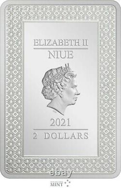 Niue 2021 1 Oz Pièce De Preuve En Argent - Cartes De Tarot La Haute Prêtresse