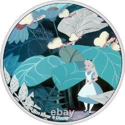 Niue 2021 1 Oz Pièce De Preuve En Argent Disney Alice Au Pays Des Merveilles Alice