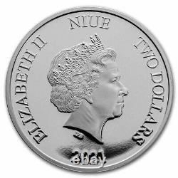 Niue 2021 1 Oz Pièce De Preuve En Argent Disney Coins -disney Princesse Mulan