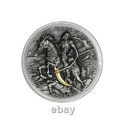 Niue 2021 Quatre Cavaliers De L'apocalypse Pale Horse 5$ Pièce D'argent 2 Oz