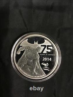 Niue 5 Dollars Silver Proof Coin 2 Oz 2014 Batman 75e Anniversaire