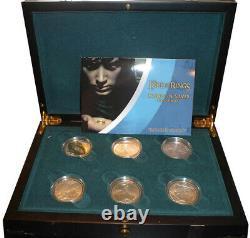 Nouvelle-zélande 2003 Le Seigneur Des Anneaux Silver Proof Coin Set! Rare