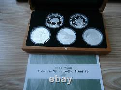 Nouvelle-zélande 2004 À 2008- Kiwi Proof Coin Set 1 Oz Kiwi Coins! Scarce