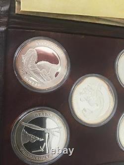 Nouvelle-zélande 2010- Pièce D'argent Non Circulée Ensemble Cinq Reptiles Antiques