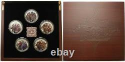 Nouvelle-zélande 2013 Silver Proof Coin Set- Hobbit Coins Désolation De Smaug