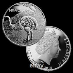 Nouvelle-zélande 2018 1 Oz Silver Proof Coin Moa Coin