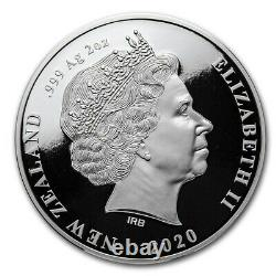Nouvelle-zélande 2020 2 Oz Silver Proof Coin Chatham Island Crested Penguin