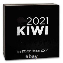 Nouvelle-zélande 2021 1 Oz Argent Kiwi Proof Coin- Brown Kiwi Coin