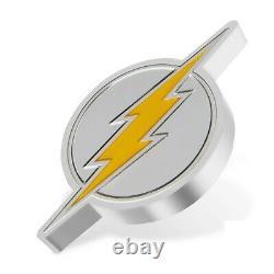 Nouvelle-zélande 2021 1 Oz Pièce De Preuve D'argent- L'emblème De Flash