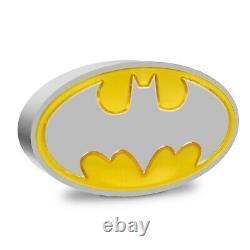 Nouvelle-zélande 2021 1 Oz Silver Proof Coin- Batman Logo