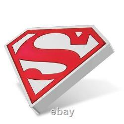 Nouvelle-zélande 2021 1 Oz Silver Proof Coin- Superman Shield