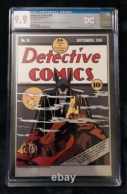 Nouvelle-zélande Mint Detective Comics 31 DC Comics Pure Silver Foil Cgc 9,9 Mint 9,8