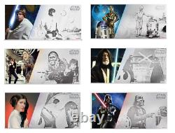 Nouvelle-zélande Mint Star Wars A New Hope Six 5g Silver Coin Notes Complete Se