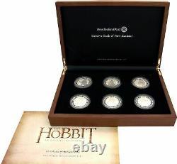 Nz 2012 Le Hobbit Un Ensemble De Pièces D'argent De Voyage Inattendu! Rare