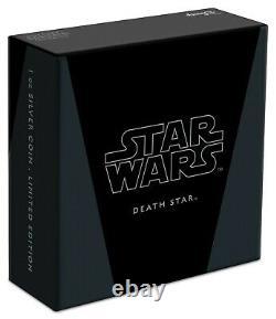 Star Wars Death Star 2020 1 Oz. Silver Coin Présent / Cadeau