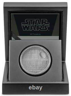 Star Wars Death Star 2020 2 $ Pièce 1 Oz Silver Ogp/coa. 999 Niue D'argent/nz