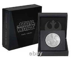 Star Wars Han Solo 1 Oz Pièce De Preuve En Argent
