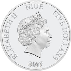 Star Wars Han Solo 2017 2oz Niue $5 Silver Coin Ultra High Relief Ngc Pf70 Uc Er