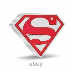 Superman Shield 1 Oz Pièce D'argent Preuve Niue 2021