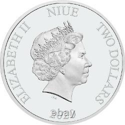 Winnie L'ourson Ensemble Complet 2020 & 2021 Niue 4x 1oz Pièce D'argent